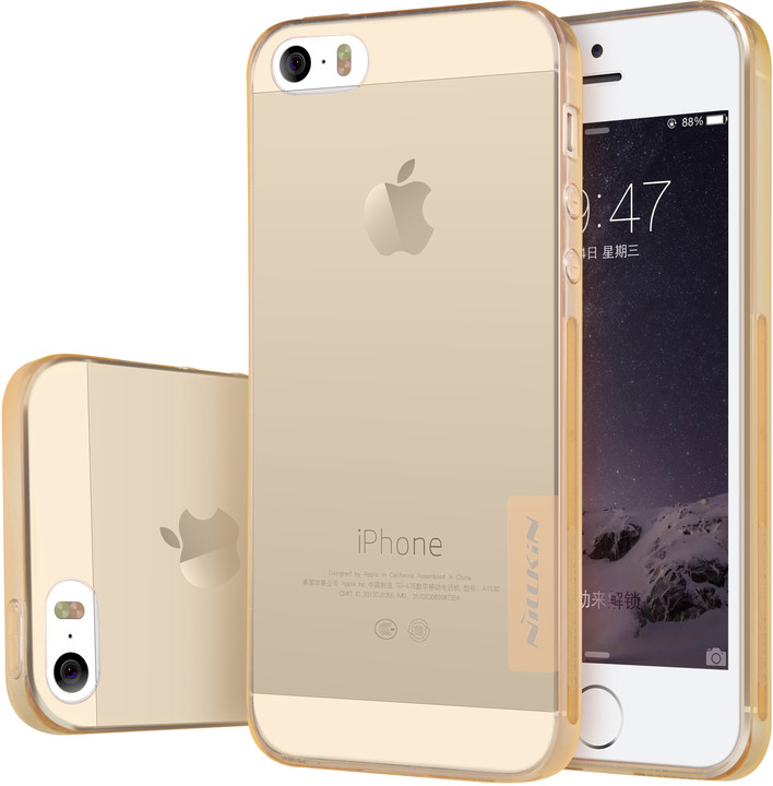 Nillkin Nature TPU Pouzdro Brown pro iPhone 5/5S/SE