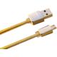 Remax datový kabel s micro USB, gumový, zlatá