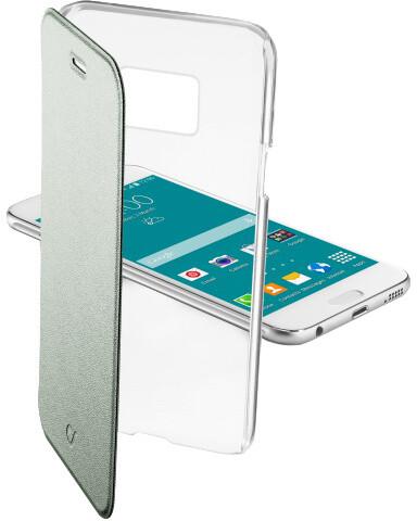 CellularLine Clear Book pouzdro typu kniha pro Samsung Galaxy S6, zelená