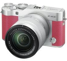 Fujifilm X-A3 + XC 16-50mm, stříbrná/růžová - 16531714