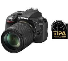 Nikon D3300 + 18-105 VR černá - VBA390K005 + Badmintonový set Tregare FIRST ACTION v ceně 399 Kč