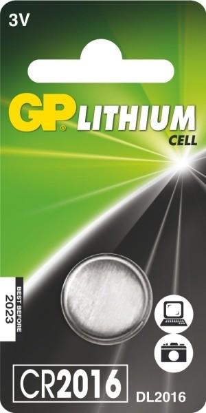 GP, lithium, CR2016, 90mAh, 1ks