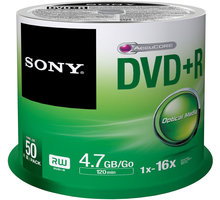 Sony DVD+R 4,7GB 16x Spindle, 50ks - 50DPR47SP