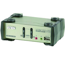 ATEN 2-port KVMP USB+PS/2, usb hub, audio, 1.2m - 4710423775060