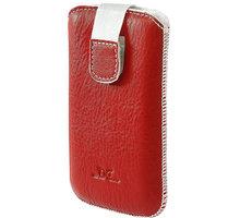 DC pouzdro L T26 Protect Montone, červená/bílé šití a vnitřek - LCSTOP26LWHRE