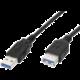 PremiumCord USB 3.0 Super-speed 5Gbps, A-A, MF, 9pin, 2m, prodlužovací