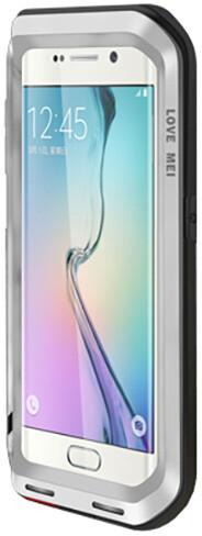 Love Mei Case ochranné pouzdro Powerful pro GALAXY S6 EDGE Silver