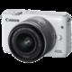 Canon EOS M10 + EF-M 15-45 STM, bílá