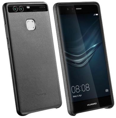 Huawei Original Kožený Zadní Kryt Black pro P9 (EU Blister)