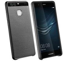 Huawei Original Kožený Zadní Kryt Black pro P9 (EU Blister) - 29950