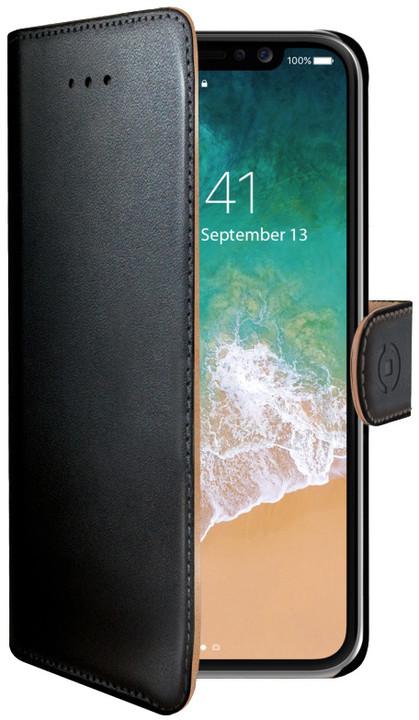 CELLY Wally pouzdro typu kniha pro Apple iPhone X, černé