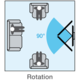 Meliconi 580406 CME Rotation ER 100 nástěnný náklonný držák na TV, černá