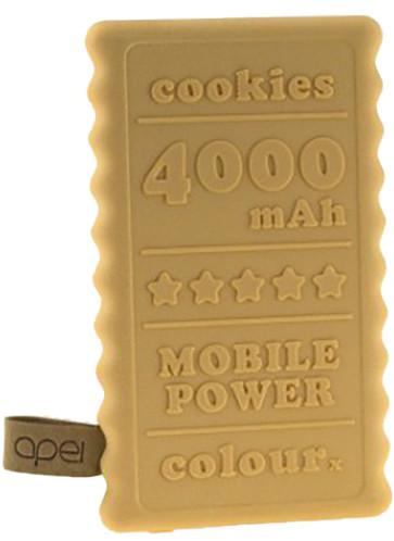 Apei Cookie 4000mAh Powerbank, béžová