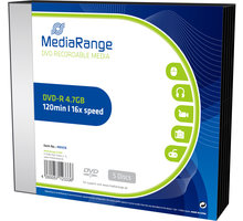 MediaRange DVD-R 4,7GB 16x, Slimcase 5ks - MR418