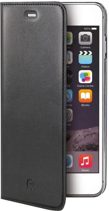 CELLY Air pouzdro pro Apple iPhone 6S, PU kůže, černá