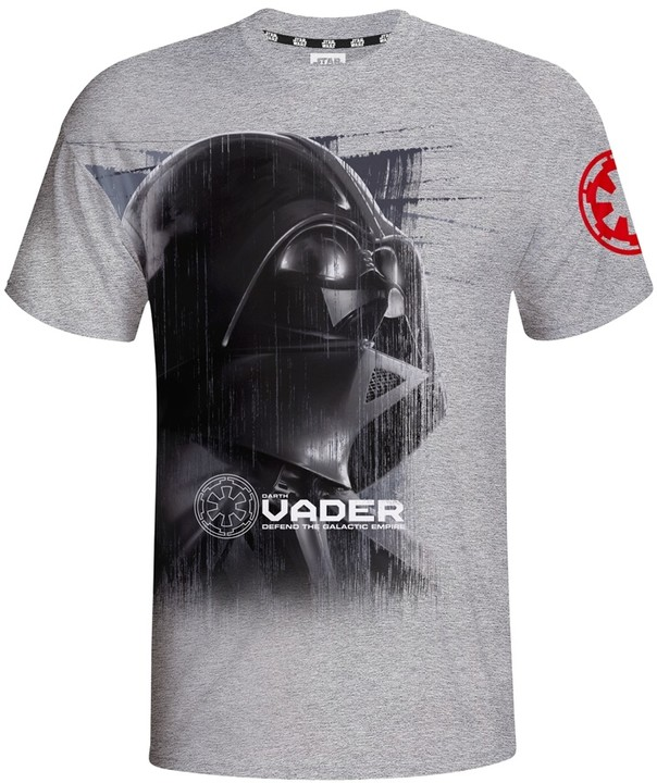 Star Wars - Vader - Defend the Galactic Empire, šedé (M)
