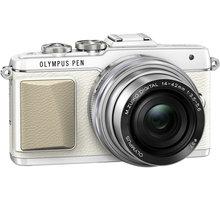 Olympus E-PL7 + 14-42 mm EZ, bílá/stříbrná - V205073WE001