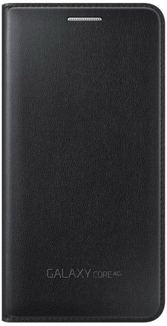 Samsung flipové pouzdro s kapsou EF-WG386B pro Galaxy Core LTE, černá