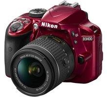 Nikon D3400 + AF-P 18-55 VR, červená - VBA491K001