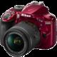 Nikon D3400 + AF-P 18-55 VR, červená  + Spací pytel Alpine Pro Saltan v ceně 999 Kč