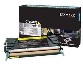 Lexmark C746A1YG, žlutá, return