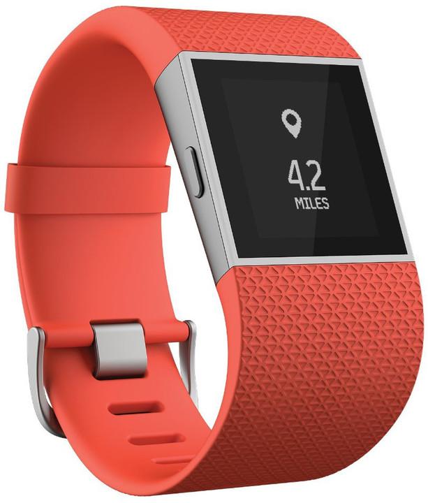 Fitbit Surge, L, oranžová