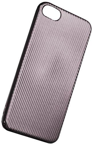 Forever silikonové (TPU) pouzdro pro Apple iPhone 7, carbon/stříbrná
