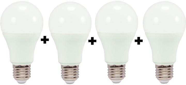 IMMAX, E27/230V, A60, 10W, teplá bílá, 850lm 4-pack