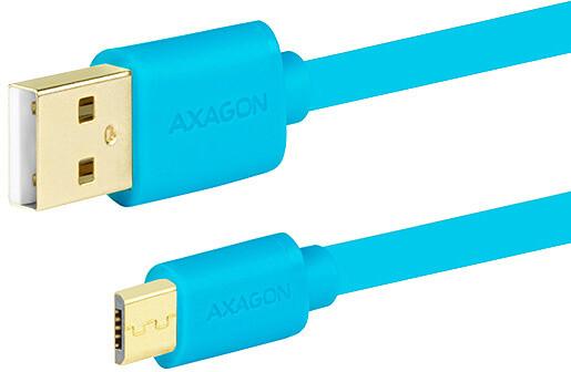 AXAGON BUMM-AM05QL, 0.5 m, modrý