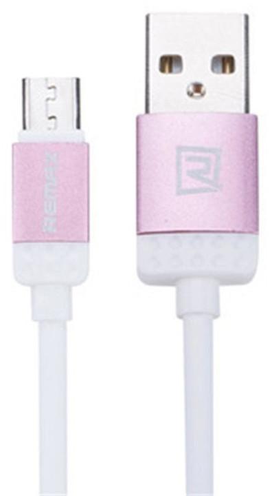Remax Lovely datový kabel s micro USB, 1m, růžová