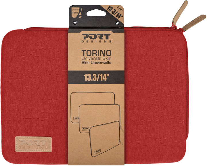 """Port Designs TORINO pouzdro na 13,3/14"""", červená"""