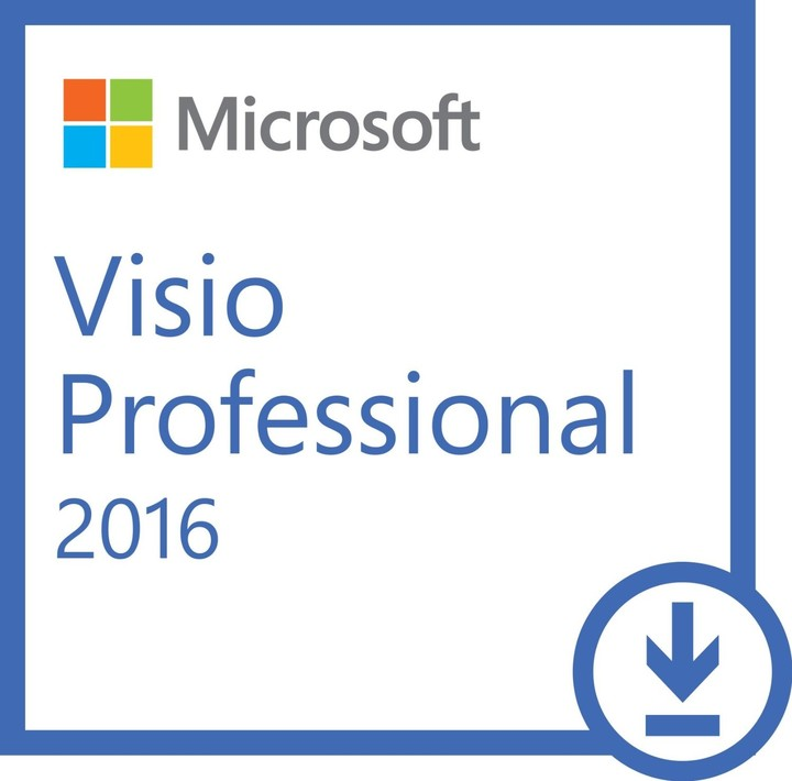Microsoft Visio Professional 2016 - Licence - 1 PC - elektronicky