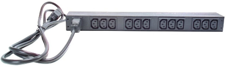 APC rack PDU, 1U, 16A, 208/230V, (12)C13
