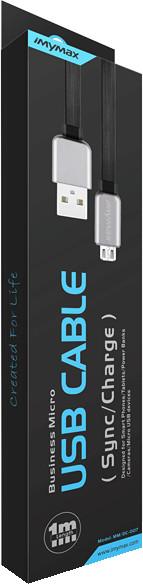 iMyMax Business Micro USB Cable, černá/šedá
