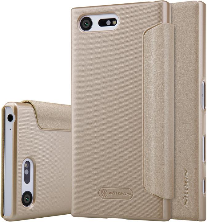 Nillkin Sparkle Folio pouzdro Gold pro Sony F5321 Xperia X Compact