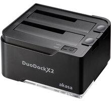 AKASA AAK-DK06U3-BK DuoDockX2, černá