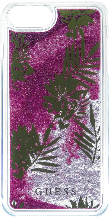 Guess Liquid Glitter Hard Palm Spring Rose pouzdro pro iPhone 7