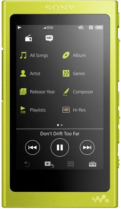 Sony NW-A35, 16GB, žlutá