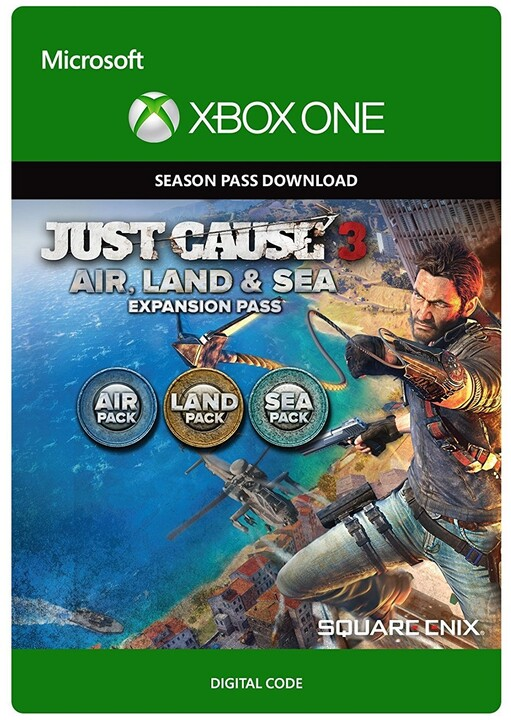Just Cause 3 - Land, Sea, Air Expansion Pass (Xbox ONE) - elektronicky