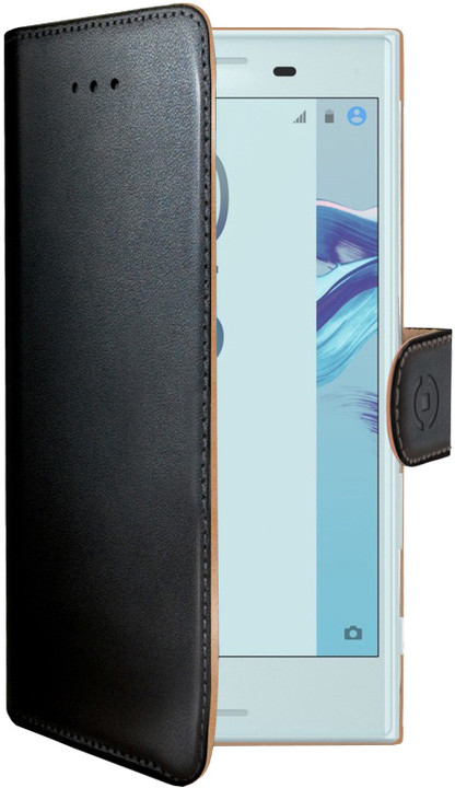 CELLY Wally Pouzdro typu kniha pro Sony Xperia X Compact, PU kůže, černé