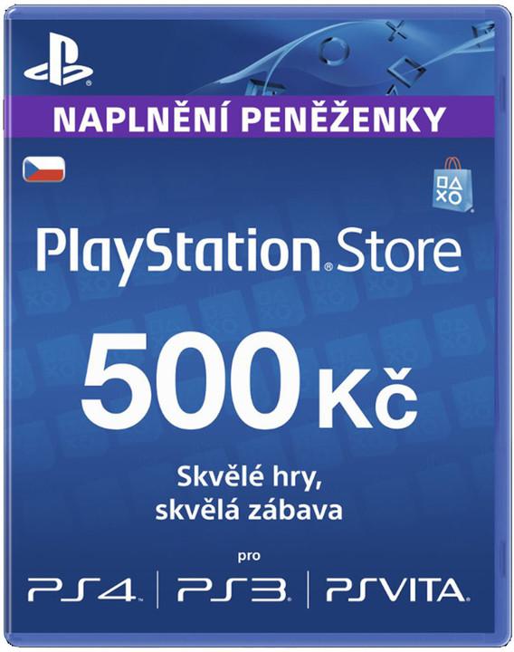 Playstation Network Card - 500 Kč