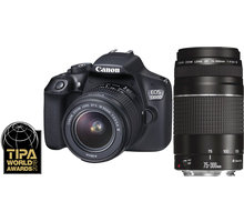 Canon EOS 200D + 18-55mm DC III + 75-300mm DC III, černá - 2250C025