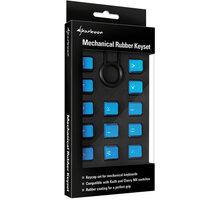 Sharkoon Mechanical Rubber Keyset, Cherry MX/Kailh, světle modré - 4044951019861