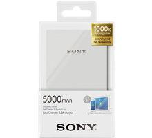 Sony CP-V5AW přenosný zdroj USB, 5000mAh, bílá
