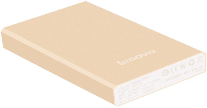 Lenovo MP406 Power Bank 4000mAh, zlatá