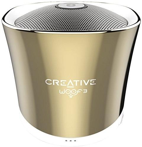 Creative WOOF3, přenosný, zlatá