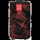 FIXED Velvet pouzdro, mikroplyš, motiv Red Stripes, velikost 3XL