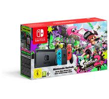 Nintendo Switch, červená/modrá + Splatoon 2 - NSH010