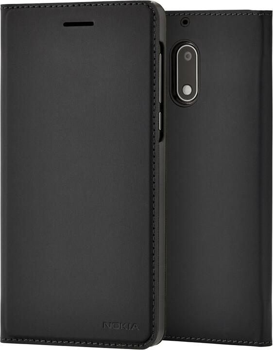 Nokia Slim Flip Case CP-301 for Nokia 6, černá