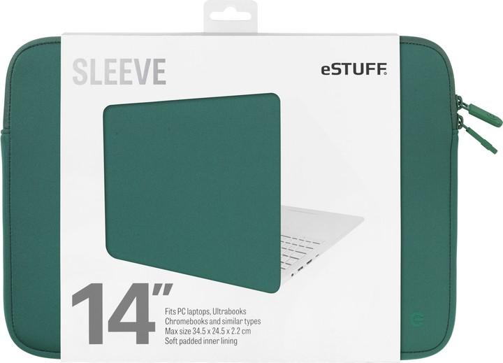 eSTUFF Ultrabooks, Chromebooks 14'' Sleeve - Fits PC Laptops, oasis